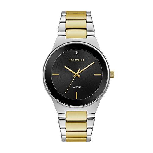 ブローバ 腕時計 メンズ 45D107 【送料無料】Caravelle Designed by Bulova Men's Quartz Watch with Stainless-Steel Strap, Two Tone, 22 (Model: 45D107)ブローバ 腕時計 メンズ 45D107