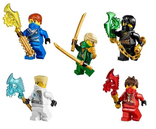 レゴ ニンジャゴー LEGO? NinjagoTM Ninja's set of 5 - Lloyd, Cole, Jay, Kai, Zane Techno Robe minifigures (2014)レゴ ニンジャゴー