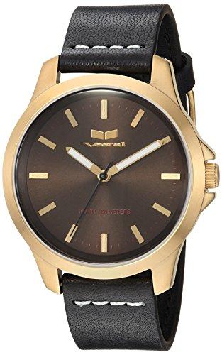 ベスタル ヴェスタル 腕時計 メンズ HEI393L12.BKWH Vestal Stainless Steel Analog-Quartz Watch with Leather Strap, Black, 18 (Model: HEI393L12.BKWH)ベスタル ヴェスタル 腕時計 メンズ HEI393L12.BKWH