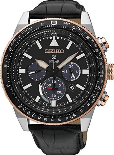 セイコー 腕時計 メンズ Seiko Prospex SKY Solar Chronograph SSC611P1 Mens Chronograph Classic & Simpleセイコー 腕時計 メンズ