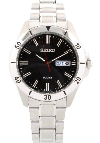 セイコー 腕時計 メンズ SGGA75 Seiko Men's Black Dial Silver Toned Stainless Steel Watch SGGA75セイコー 腕時計 メンズ SGGA75
