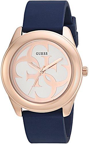 ゲス GUESS 腕時計 レディース U0911L6 【送料無料】GUESS Comfortable Rose Gold-Tone + Blue Stain Resistant Silicone Logo Watch. Color: Blue (Model: U0911L6)ゲス GUESS 腕時計 レディース U0911L6