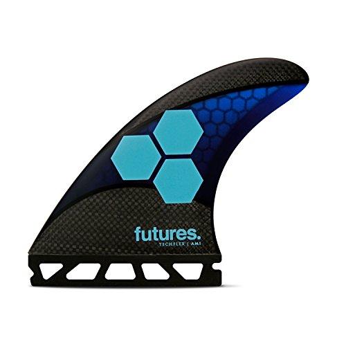 サーフィン フィン マリンスポーツ 【送料無料】Futures Fins - AM1 TECHFLEX Thruster - Blue/Cyanサーフィン フィン マリンスポーツ