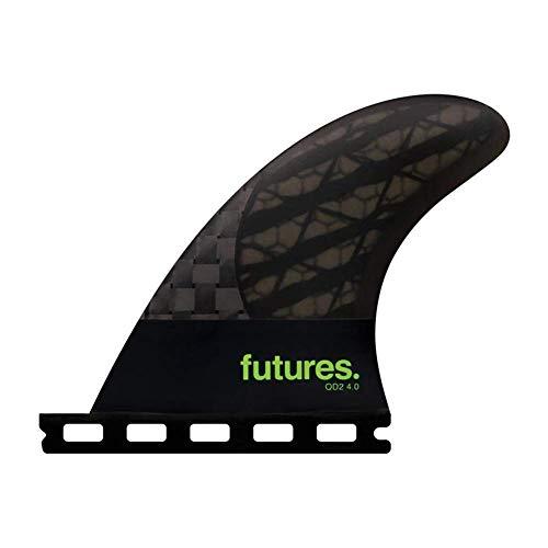 サーフィン フィン マリンスポーツ 【送料無料】Futures Qd2 40 8020 Blackstix 30 Fin Medium Smoke/Light Greenサーフィン フィン マリンスポーツ