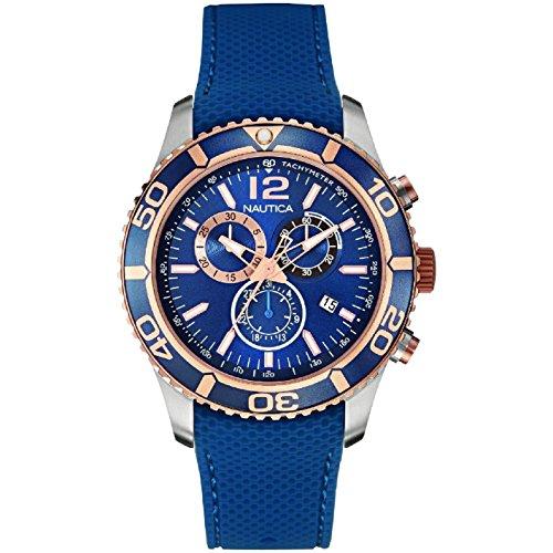 ノーティカ 腕時計 メンズ NAI16502G Nautica Women's 43mm Blue Rubber Band Steel Case Quartz Analog Watch NAI16502Gノーティカ 腕時計 メンズ NAI16502G