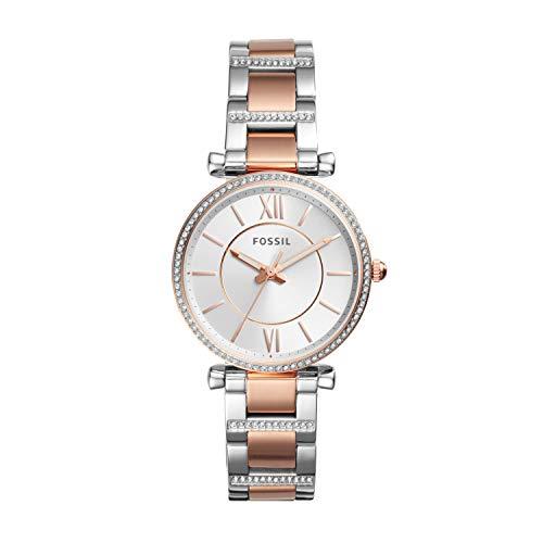 フォッシル 腕時計 レディース ES4342 【送料無料】Fossil Women's Carlie Quartz Watch with Stainless-Steel Strap, Silver, 16 (Model: ES4342)フォッシル 腕時計 レディース ES4342