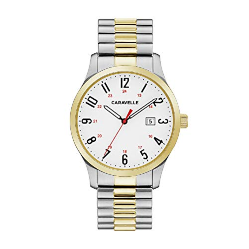 ブローバ 腕時計 メンズ 45B147 【送料無料】Caravelle Designed by Bulova Men's Quartz Watch with Stainless-Steel Strap, Two Tone, 20 (Model: 45B147)ブローバ 腕時計 メンズ 45B147