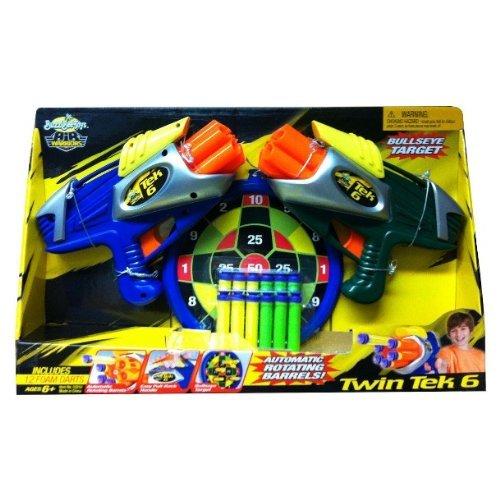 バズビー ブラスター アメリカ 直輸入 ソフトダーツ 【送料無料】BuzzBee Air Warriors Twin Tek 6 Air Blasters + 12 Foam Darts by Buzz Beeバズビー ブラスター アメリカ 直輸入 ソフトダーツ