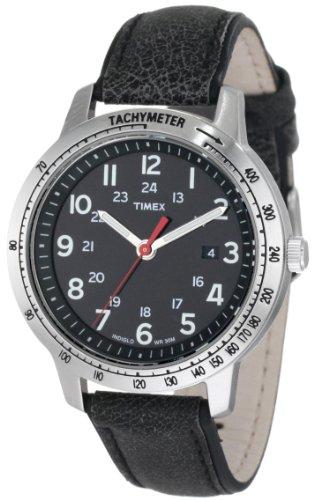 腕時計 タイメックス メンズ T2N639 【送料無料】Timex Men's T2N639 Weekender Sport Black Distressed Leather Strap Watch腕時計 タイメックス メンズ T2N639