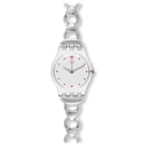 腕時計 スウォッチ レディース 夏の腕時計特集 【送料無料】Swatch LK362G Women's Gamme De Coeur Silver Dial Stainless Steel Charm Bracelet Watch腕時計 スウォッチ レディース 夏の腕時計特集