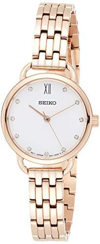 セイコー 腕時計 レディース SUR698P1 【送料無料】Seiko Women's 26.5mm Rose Gold-Tone Steel Bracelet & Case Hardlex Crystal Quartz White Dial Watch SUR698セイコー 腕時計 レディース SUR698P1