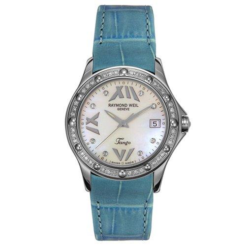 レイモンドウィル 腕時計 レディース スイスの高級腕時計 5590-S3S-97650 【送料無料】Raymond Weil Women's 5590-S3S-97650 Tango Diamond Leather Watchレイモンドウィル 腕時計 レディース スイスの高級腕時計 5590-S3S-97650