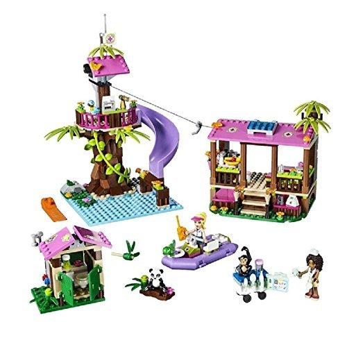 レゴ フレンズ 【送料無料】LEGO Friends Jungle Animal Rescue Medical Station Bathroom Hut Boat Base 472 Piecesレゴ フレンズ