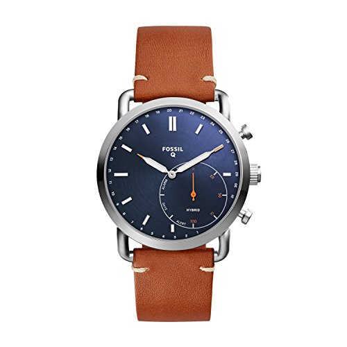 フォッシル 腕時計 メンズ FTW1151 【送料無料】Fossil Men Commuter Stainless Steel and Leather Hybrid Smartwatch, Color: Silver-Tone, Brown (Model: FTW1151)フォッシル 腕時計 メンズ FTW1151