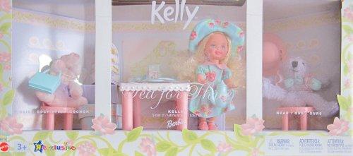 バービー バービー人形 チェルシー スキッパー ステイシー B0782 Barbie KELLY TEA FOR THREE Playset w Piggy & Bear