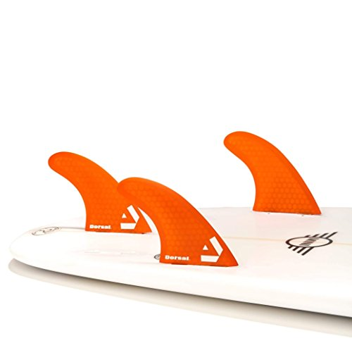 サーフィン フィン マリンスポーツ VENTRAL-HS5-FC3-Orange Dorsal Surfboard Fins Hexcore Thruster Set (3) Honeycomb FCS Base Orangeサーフィン フィン マリンスポーツ VENTRAL-HS5-FC3-Orange