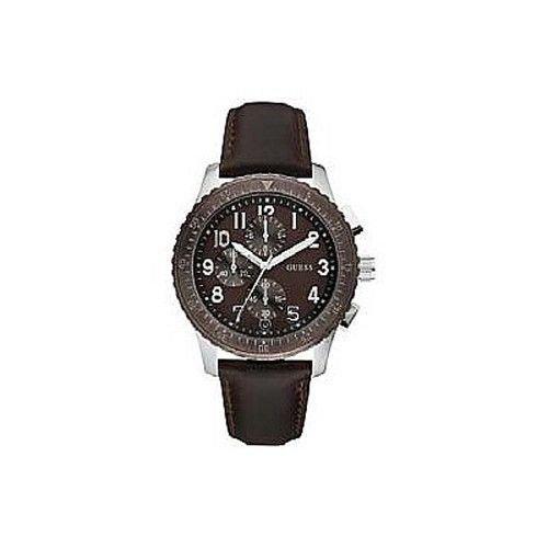 ゲス GUESS 腕時計 メンズ Guess Men's Chronograph Watch Brown Leather Bandゲス GUESS 腕時計 メンズ