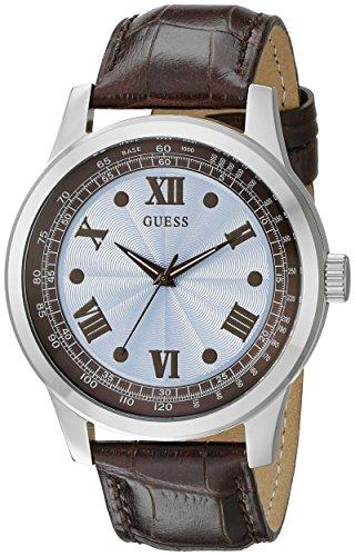 ゲス GUESS 腕時計 メンズ U0662G2 GUESS Men's U0662G2 Classic Brown Watch with Sky Blue Dialゲス GUESS 腕時計 メンズ U0662G2