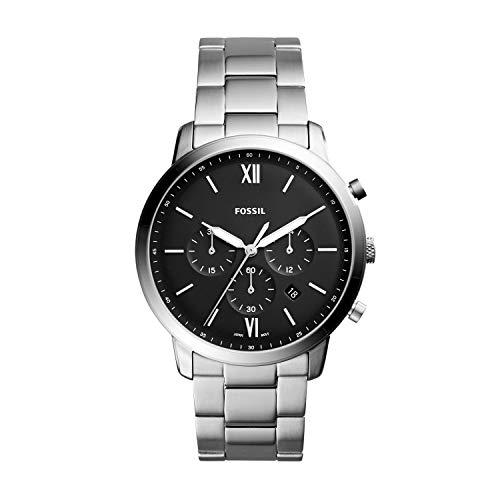 フォッシル 腕時計 メンズ FS5384 Fossil Men's Neutra Chrono Quartz Watch with Stainless-Steel Strap, Silver, 22 (Model: FS5384)フォッシル 腕時計 メンズ FS5384