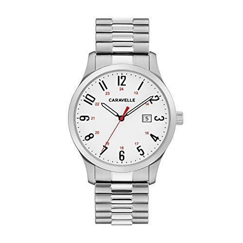 ブローバ 腕時計 メンズ 43B153 【送料無料】Caravelle Designed by Bulova Men's Quartz Watch with Stainless-Steel Strap, Silver, 20 (Model: 43B153)ブローバ 腕時計 メンズ 43B153