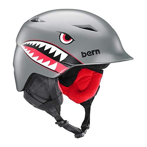 スノーボード ウィンタースポーツ 海外モデル ヨーロッパモデル アメリカモデル SB02ZSGFT21 BERN - Kids Camino Snow Helmet, Satin Grey Flying Tiger, XS/Sスノーボード ウィンタースポーツ 海外モデル ヨーロッパモデル アメリカモデル SB02ZSGFT21