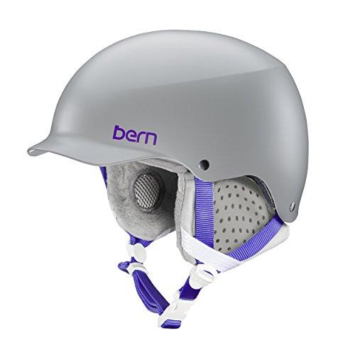 スノーボード ウィンタースポーツ 海外モデル ヨーロッパモデル アメリカモデル SW04E17SGR1 Bern Muse Snow Helmet (Satin Grey with Grey Liner, Small)スノーボード ウィンタースポーツ 海外モデル ヨーロッパモデル アメリカモデル SW04E17SGR1