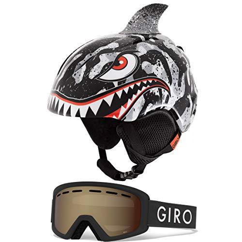 スノーボード ウィンタースポーツ 海外モデル ヨーロッパモデル アメリカモデル 【送料無料】Giro Launch Kids Snow Helmet Goggle Combo Black Tiger Shark/Black Zoom XS (48.5-52スノーボード ウィンタースポーツ 海外モデル ヨーロッパモデル アメリカモデル