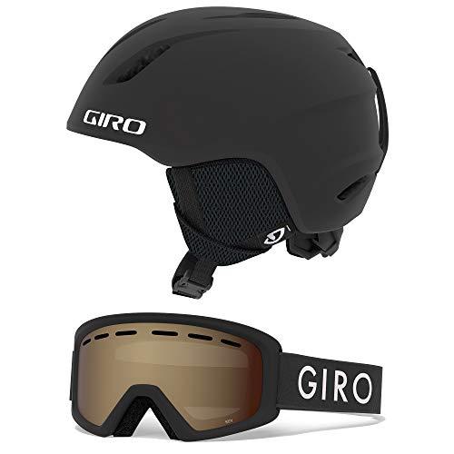 スノーボード ウィンタースポーツ 海外モデル ヨーロッパモデル アメリカモデル 【送料無料】Giro Launch Kids Snow Helmet Goggle Combo Matte Black/Black Zoom XS (48.5-52CM)スノーボード ウィンタースポーツ 海外モデル ヨーロッパモデル アメリカモデル