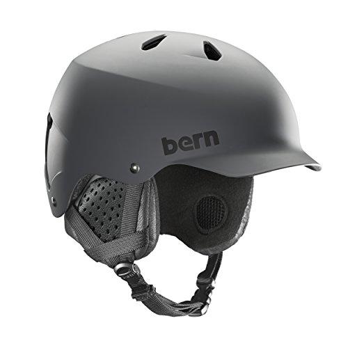 スノーボード ウィンタースポーツ 海外モデル ヨーロッパモデル アメリカモデル SM05E17MGR3 BERN - Winter Watts EPS Snow Helmet, Matte Grey with Black Liner, Largeスノーボード ウィンタースポーツ 海外モデル ヨーロッパモデル アメリカモデル SM05E17MGR3