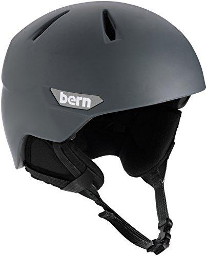 スノーボード ウィンタースポーツ 海外モデル ヨーロッパモデル アメリカモデル SM10ZMGRY01 BERN 2016/17 Men's Weston EPS Winter Snow Helmet - w/Earflaps (Matte Grey w/スノーボード ウィンタースポーツ 海外モデル ヨーロッパモデル アメリカモデル SM10ZMGRY01