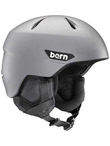 スノーボード ウィンタースポーツ 海外モデル ヨーロッパモデル アメリカモデル Bern BERN Weston Snow Helmet - Men's Matte Grey/Black Liner Smallスノーボード ウィンタースポーツ 海外モデル ヨーロッパモデル アメリカモデル Bern