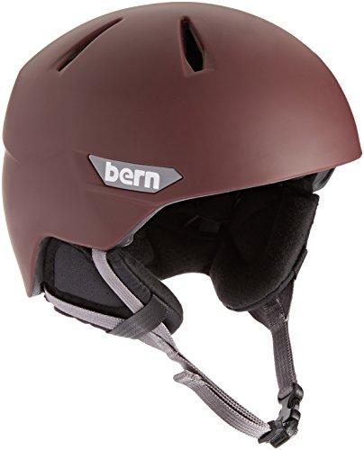 スノーボード ウィンタースポーツ 海外モデル ヨーロッパモデル アメリカモデル SM10ZMOXB01 BERN 2016/17 Men's Weston EPS Winter Snow Helmet - w/Earflaps (Matte Oxbloodスノーボード ウィンタースポーツ 海外モデル ヨーロッパモデル アメリカモデル SM10ZMOXB01