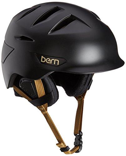 スノーボード ウィンタースポーツ 海外モデル ヨーロッパモデル アメリカモデル SW08ZSBLK11 Bern Women's Hepburn Snow Helmet, Satin Black w/Black Liner, M/Lスノーボード ウィンタースポーツ 海外モデル ヨーロッパモデル アメリカモデル SW08ZSBLK11