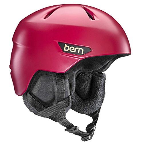 スノーボード ウィンタースポーツ 海外モデル ヨーロッパモデル アメリカモデル SW10ZSCRE11 BERN 2016/17 Women's Bristow Zipmold Winter Snow Helmet w/Liner (Satin Cranbスノーボード ウィンタースポーツ 海外モデル ヨーロッパモデル アメリカモデル SW10ZSCRE11