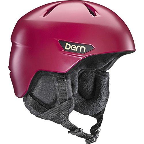スノーボード ウィンタースポーツ 海外モデル ヨーロッパモデル アメリカモデル SW10ZSCRE12 Bern 2016/17 Women's Bristow Zipmold Winter Snow Helmet w/Liner (Satin Cranbスノーボード ウィンタースポーツ 海外モデル ヨーロッパモデル アメリカモデル SW10ZSCRE12