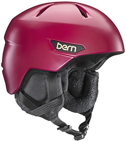 スノーボード ウィンタースポーツ 海外モデル ヨーロッパモデル アメリカモデル SW10Z17SCR2 BERN Bristow Snow Helmet w/Crank Fit-SatinCranberry-Mスノーボード ウィンタースポーツ 海外モデル ヨーロッパモデル アメリカモデル SW10Z17SCR2