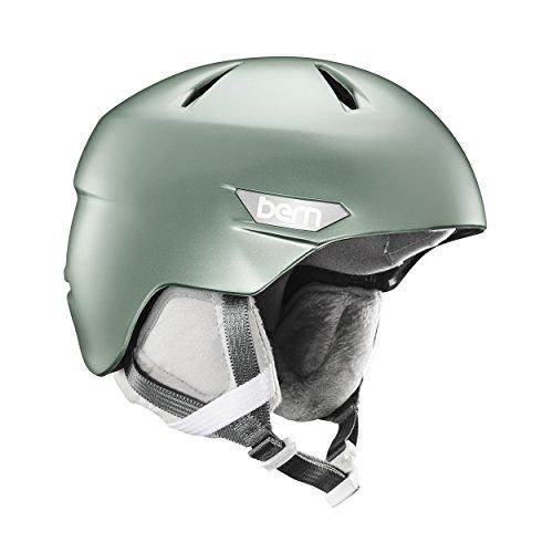 スノーボード ウィンタースポーツ 海外モデル ヨーロッパモデル アメリカモデル SW10Z17SSG1 BERN Women's Bristow Snow Helmet Satin Metallic Sage Sスノーボード ウィンタースポーツ 海外モデル ヨーロッパモデル アメリカモデル SW10Z17SSG1