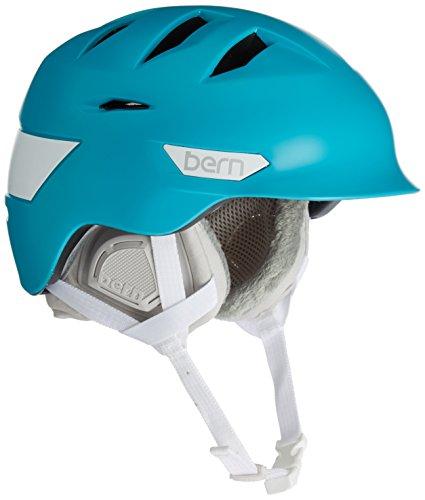 スノーボード ウィンタースポーツ 海外モデル ヨーロッパモデル アメリカモデル SW08ZSTEA11 Bern Women's Hepburn Snow Helmet, Satin Teal M/Lスノーボード ウィンタースポーツ 海外モデル ヨーロッパモデル アメリカモデル SW08ZSTEA11