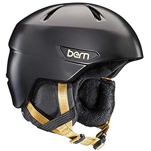 スノーボード ウィンタースポーツ 海外モデル ヨーロッパモデル アメリカモデル SW10ZSBLK12 BERN 2016/17 Women's Bristow Zipmold Winter Snow Helmet w/Liner (Satin Blackスノーボード ウィンタースポーツ 海外モデル ヨーロッパモデル アメリカモデル SW10ZSBLK12