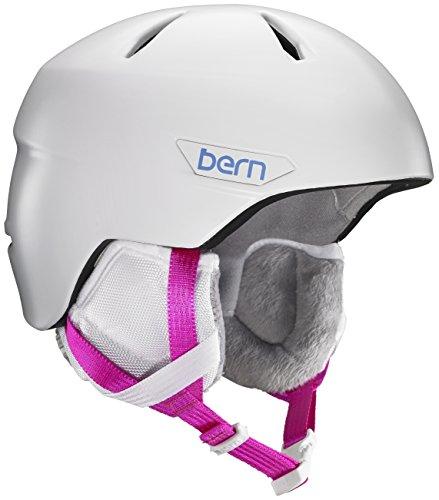 スノーボード ウィンタースポーツ 海外モデル ヨーロッパモデル アメリカモデル SG05ZSWHT21 Bern 2016/17 Kids/Girls Bristow JR Winter Snow Helmet (Satin White w/White Lスノーボード ウィンタースポーツ 海外モデル ヨーロッパモデル アメリカモデル SG05ZSWHT21