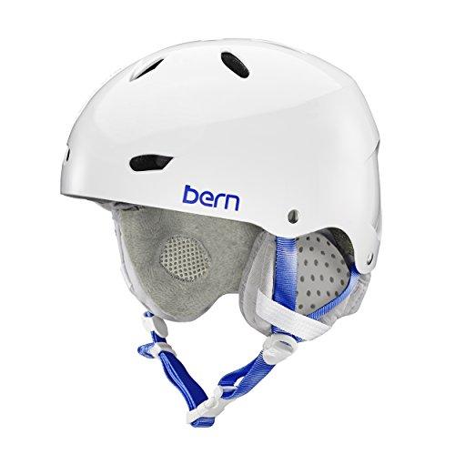 スノーボード ウィンタースポーツ 海外モデル ヨーロッパモデル アメリカモデル SW02E17GWT1 【送料無料】BERN Brighton Helmet - Women's Gloss White/Grey Liner Smalスノーボード ウィンタースポーツ 海外モデル ヨーロッパモデル アメリカモデル SW02E17GWT1