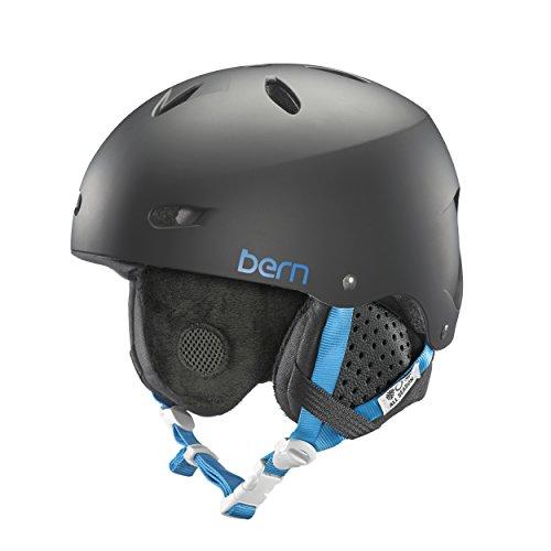 スノーボード ウィンタースポーツ 海外モデル ヨーロッパモデル アメリカモデル SW02E17MBK2 BERN Brighton Helmet - Women's Matte Black/Black Liner Mediumスノーボード ウィンタースポーツ 海外モデル ヨーロッパモデル アメリカモデル SW02E17MBK2