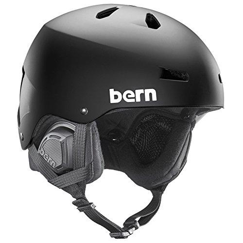 スノーボード ウィンタースポーツ 海外モデル ヨーロッパモデル アメリカモデル SM02EMBLK01 Bern Macon Winter Helmet for Menスノーボード ウィンタースポーツ 海外モデル ヨーロッパモデル アメリカモデル SM02EMBLK01
