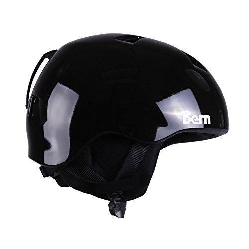 スノーボード ウィンタースポーツ 海外モデル ヨーロッパモデル アメリカモデル JBGBKS BERN Nino Adjustable Helmet with Black Fleece (Gloss Black, Small/Medium)スノーボード ウィンタースポーツ 海外モデル ヨーロッパモデル アメリカモデル JBGBKS