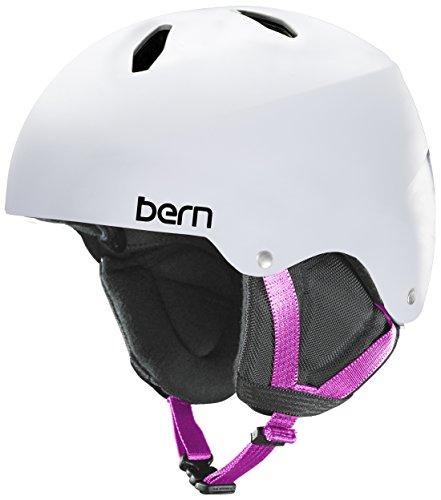スノーボード ウィンタースポーツ 海外モデル ヨーロッパモデル アメリカモデル Bern 【送料無料】BERN Tween Girls' Diabla Snow Helmet Satin White Mスノーボード ウィンタースポーツ 海外モデル ヨーロッパモデル アメリカモデル Bern