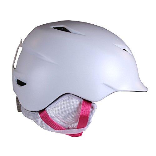 スノーボード ウィンタースポーツ 海外モデル ヨーロッパモデル アメリカモデル SG02ZSWHT21 BERN Girls Camina Helmet (Satin White | X-Small/Small)スノーボード ウィンタースポーツ 海外モデル ヨーロッパモデル アメリカモデル SG02ZSWHT21