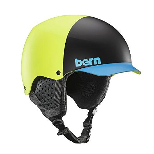 スノーボード ウィンタースポーツ 海外モデル ヨーロッパモデル アメリカモデル SM04E17MYH1 Bern Baker Snow Helmet (Matte Neon Yellow Hatstyle with Black Liner, Small)スノーボード ウィンタースポーツ 海外モデル ヨーロッパモデル アメリカモデル SM04E17MYH1