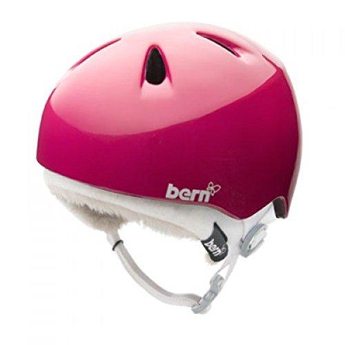 スノーボード ウィンタースポーツ 海外モデル ヨーロッパモデル アメリカモデル Bern 2015/16 Junior Girls Nina Winter Snow Helmet (Gloss Pink w/ White Fleece...スノーボード ウィンタースポーツ 海外モデル ヨーロッパモデル アメリカモデル