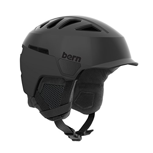 スノーボード ウィンタースポーツ 海外モデル ヨーロッパモデル アメリカモデル SM00D17SBK2 Bern Men's Heist Brim Helmet (Satin Black with Black Liner, Medium)スノーボード ウィンタースポーツ 海外モデル ヨーロッパモデル アメリカモデル SM00D17SBK2