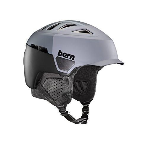 スノーボード ウィンタースポーツ 海外モデル ヨーロッパモデル アメリカモデル SM00D17SGH2 Bern Men's Heist Brim Helmet (Satin Grey Hatstyle with Black Liner, Medium)スノーボード ウィンタースポーツ 海外モデル ヨーロッパモデル アメリカモデル SM00D17SGH2
